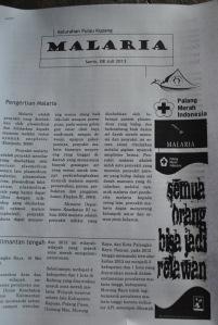 brosur tentang Malaria