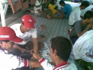 Relawan Desa memprak
