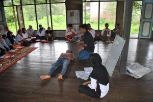 Praktek PP dengan relawan Desa