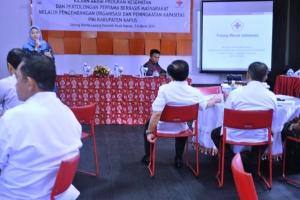 Ibu Eka Wulan Cahyasari (Salah satu perwakilan PMI Pusat)