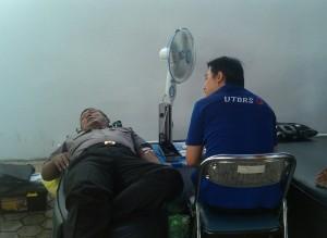 Pendonor dari Polres Kapuas turut berpartisipasi