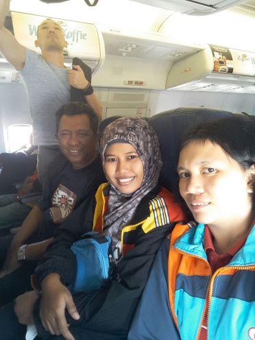 Selfie di pesawat