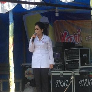 Ketua PMI Kabupaten Kapuas saat memberikan sambutan